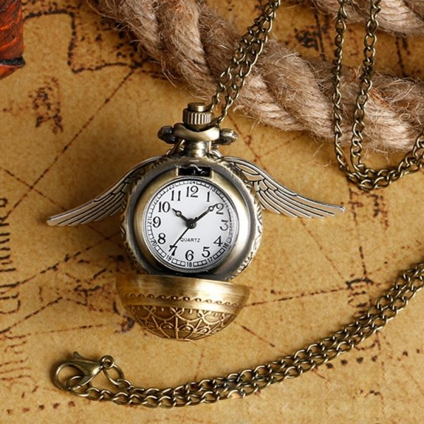 Golden Snitch Quartz Pocket Watch Necklace 1
