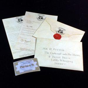 Hogwarts Acceptance Letter Package Five Pieces