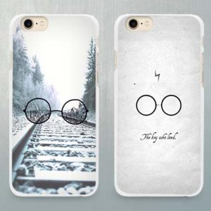 Potterhood Hard White Case Cover for Apple iPhone 4 4s 5 5C SE 5s 6 6s 7 8 Plus X