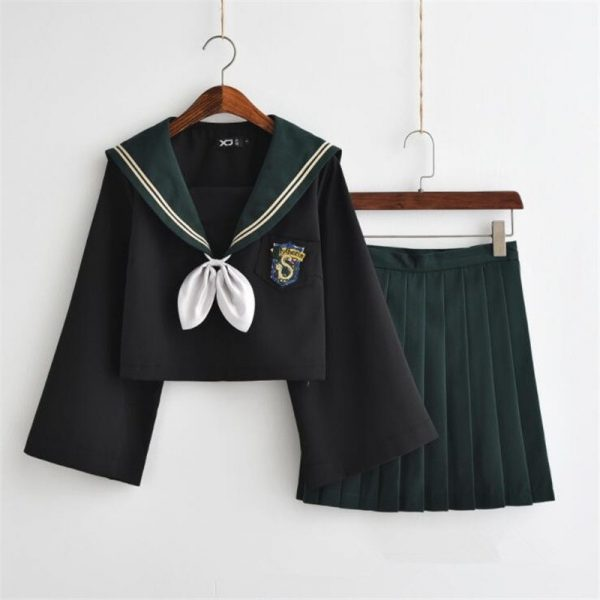 Female Student Uniform Skirt Sailor Suit 1