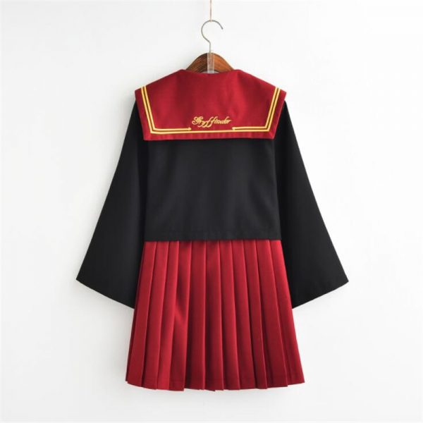 Female Student Uniform Skirt Sailor Suit 4
