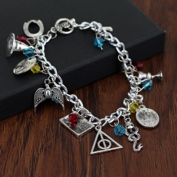 Infinity Silver Plated Charm Bracelet
